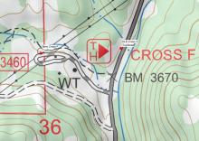 New Cross F Trailhead map